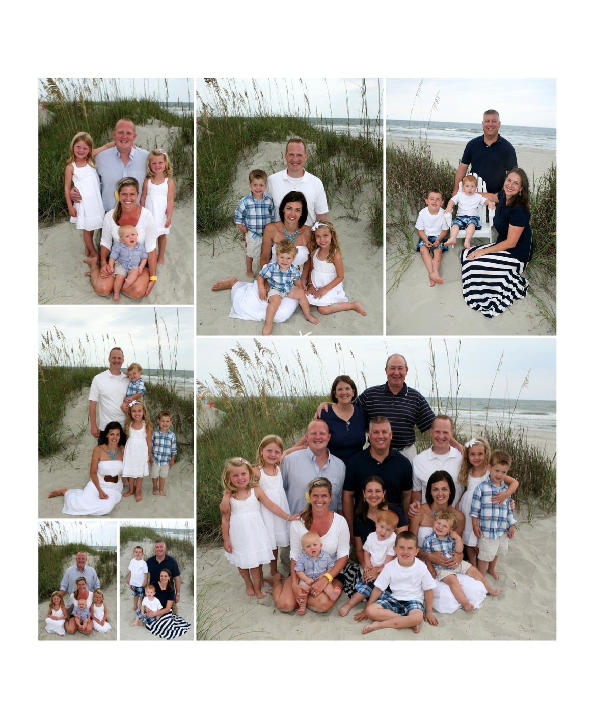 Family Pictures In The Beach: Family Beach Portrait Attire Ideas